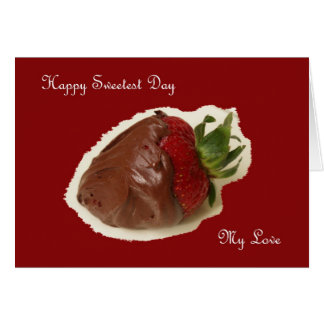 Sweetest Day Card Chocolate Strawberry