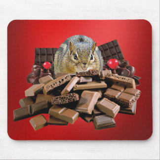 Sweetest Day Chocolate Chipmunk Mouse Pad