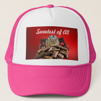 Sweetest Day Chocolate Chipmunk Trucker Hat