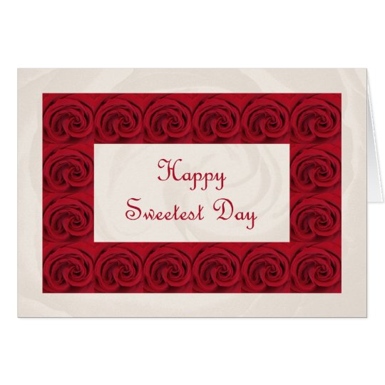 Sweetest Day Poem Card -- Roses