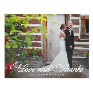 Sweetest Day | Wedding Thank You Postcard