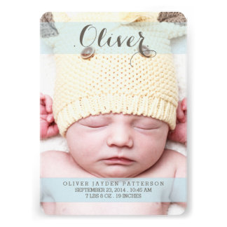 Sweetest Dream Two Photo Modern Birth Announcement