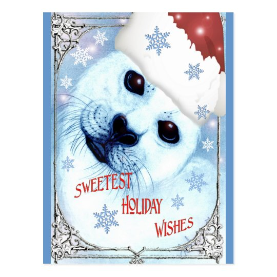 Sweetest Holiday Christmas Wishes Postcard