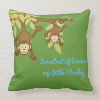 Sweetest of Dreams Little Monkey Throw Pillow