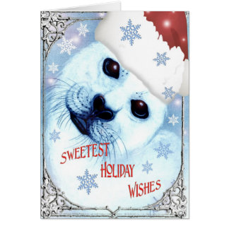 ~* Sweetest Seal Holiday Wishes *~ Card