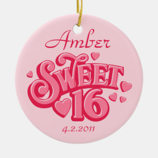 Sweetheart 16 Personalized Ornament