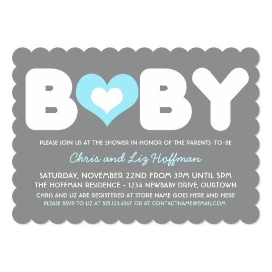 Sweetheart Baby Shower Invitation