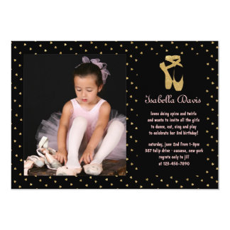 Sweetheart Ballerina Photo Invitation