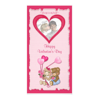 Sweetheart Bears Customized Photo Card