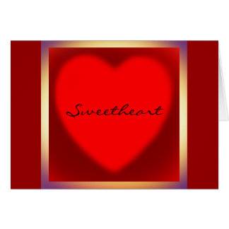 Sweetheart Boxed Red Heart Valentines Card