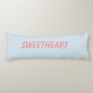 Sweetheart Brushed Polyester Body Pillow. Body Pillow