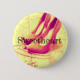 Sweetheart Button with Pink Heels