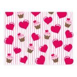 Sweetheart Cupcakes Postcard