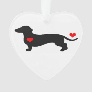 Sweetheart Dachshund Heart Ornament