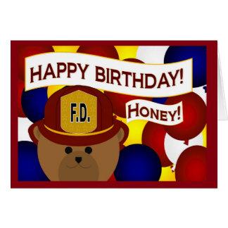 Sweetheart - Happy Birthday Firefighter Hero! Greeting Card