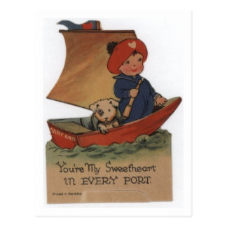 Sweetheart in Every Port Postcard