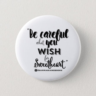 Sweetheart Round Button (white)