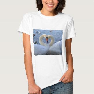 Sweetheart swans tshirts