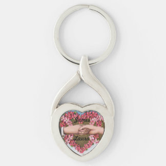 Sweetheart Wreath Wedding Keychain Customized