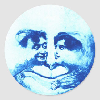 Sweethearts in the Blue Moon Round Sticker