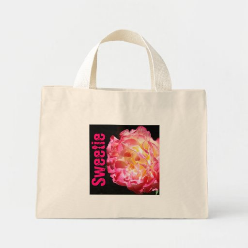 Sweetie gifts Pink Valentines Rose Tote Bags