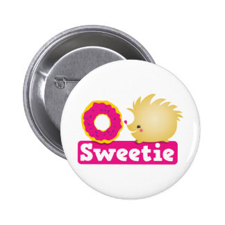 sweetie HEDGEHOG 2 Inch Round Button