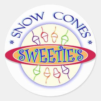 Sweetie's Snow Cones Promo Sticker