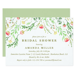 Sweetly Romantic | Floral Wedding Bridal Shower Card