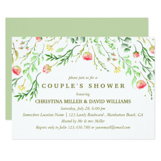 Sweetly Romantic | Floral Wedding Clouple Shower Card