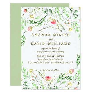 Sweetly Romantic | Floral Wedding Invitation