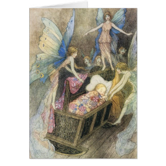 Sweetly Singing Around Thy Bed Print Card