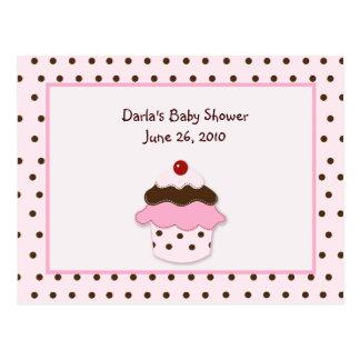 Sweetness Cupcake Baby Shower Advice Cards Postcard