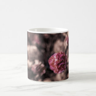 Sweetness mug mini carnations pink antiqued look