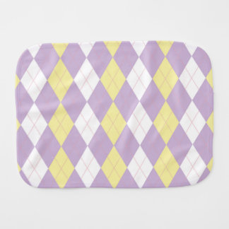 SweetPea Argyle Burper Burp Cloth