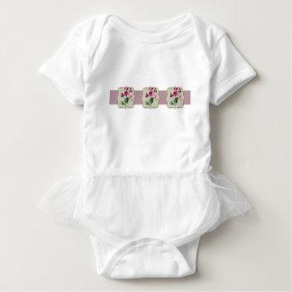 Sweetpea Vintage Flowers Wide Baby Bodysuit