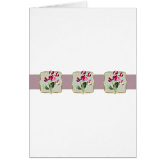 Sweetpea Vintage Flowers Wide Card
