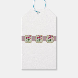 Sweetpea Vintage Flowers Wide Gift Tags