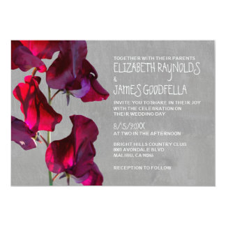 Sweetpea Wedding Invitations