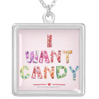 Sweets 2 silver plated necklace