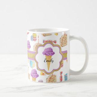 Sweets and Treats Monogrammed Coffee Mug