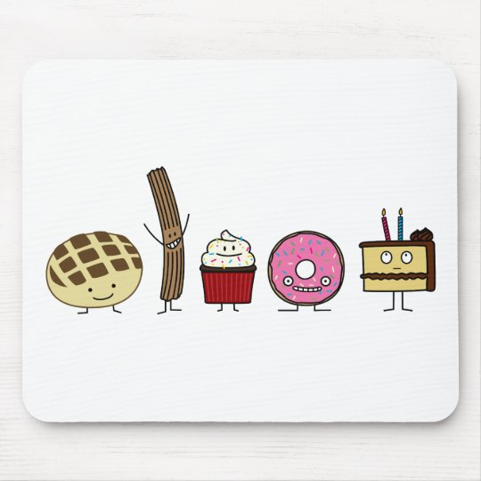 Sweets bread pan dulce churro doughnut cake mouse pad