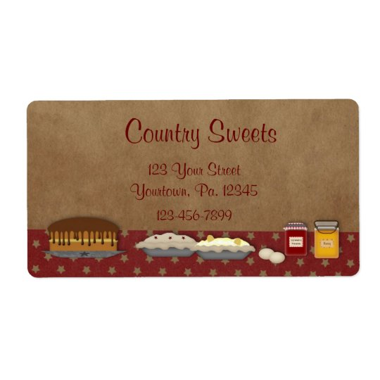 Sweets Business Label Shipping Label