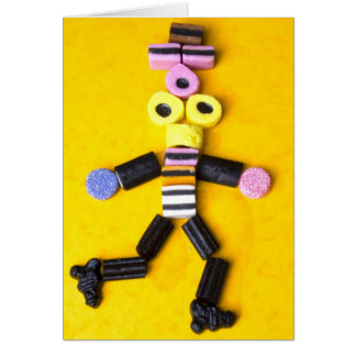 Sweets Candy smarties  Halibos Greeting Card