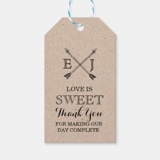 Sweets Thank You Tag Kraft Paper Wedding Favors Pack Of Gift Tags