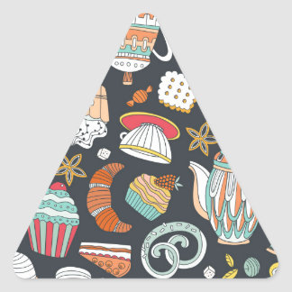 Sweets & Treats Deserts Triangle Sticker