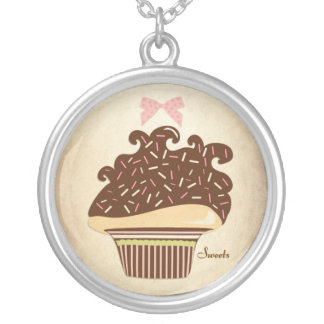 Sweets Vintage Cupcake Necklace