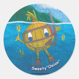 sweetyonion snorkeling classic round sticker