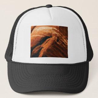 swelling red rock trucker hat