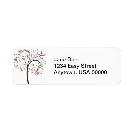 Swept Away Return Address Label