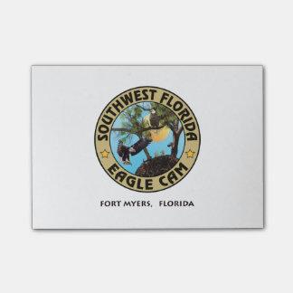 SWFL Eagle Cam Logo'ed Post It Notes